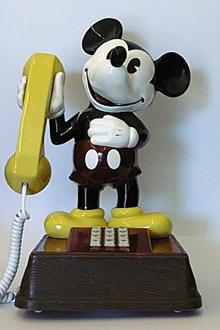 Mickey Mouse push putton telephone