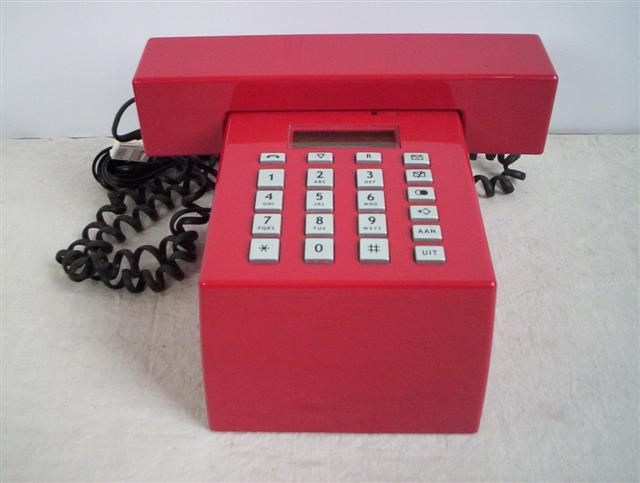 Red Bouvrie designer telephone
