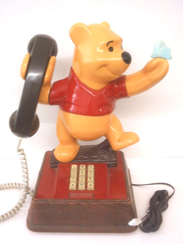 Classic Winnie the Pooh Bear phone with Butterfly