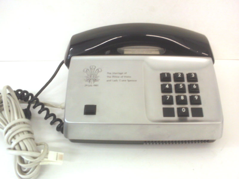 Ericsson Commemorative telephone for marriage of Prince of Wales