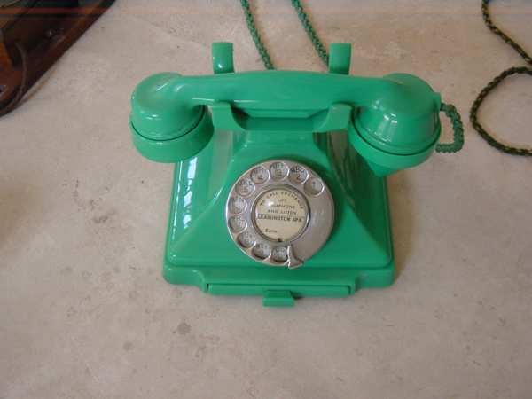 Green 232 bakelite pyramid telephone