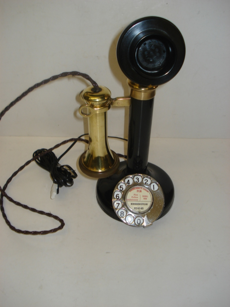 Candlestick No.150 in original black with bell & guarantee.