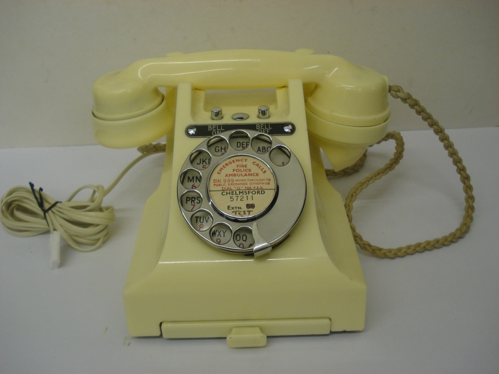 Original Ivory 1950's Bakelite 300 telephone with drawer