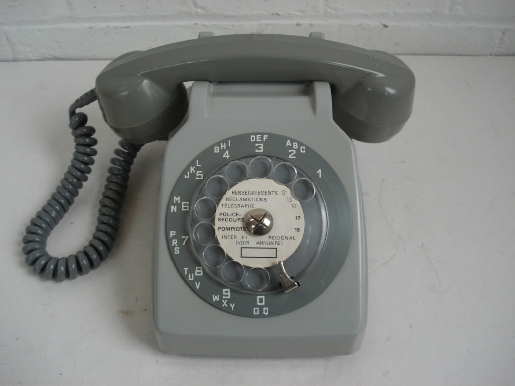 Rotary dial Two-tone Grey dial telephone from 1970's