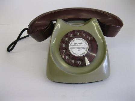 Siemens Grey/Maroon Horseshoe phone c1950