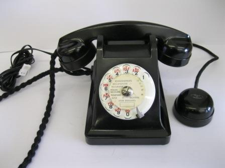 French Black Bakelite Phone with mother-in law listener