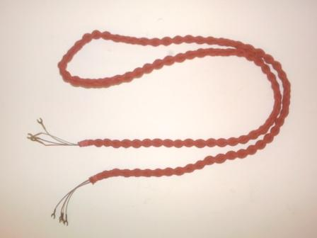 Plaited Cord, high quality in red, 4 wire